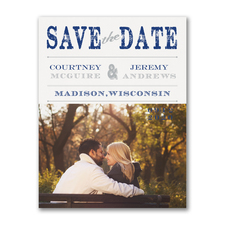 Vintage Stamp - Save the Date